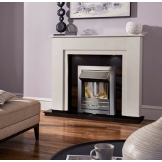 MARBLE WHITE BLACK GRAINTE ELECTRIC FIRE MELBORNE