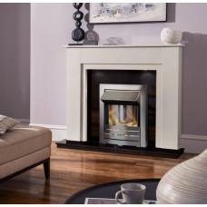 MARBLE WHITE BLACK GRAINTE ELECTRIC FIRE MELBORNE