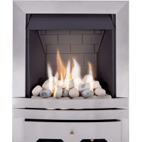 MARBLE WHITE/ BLACK GRANITE GAS FIRE MELBORNE