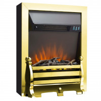 Electric Fire Brass remote control freestanding
