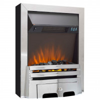 Electric Fire Chrome remote control freestanding
