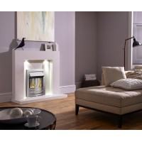 MARBLE WHITE ELECTRIC FIRE HAVANNA