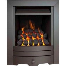 Eco4 GAS FIRE SLIDE Black Slimline Capella