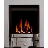 Eco4 GAS FIRE SLIDE Brushed Steel Slimline Capella
