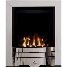 Eco4 GAS FIRE SLIDE Chrome Slimline Capella