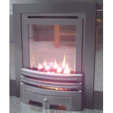 ECO4 H.E. (SLIDE) SLIMLINE GAS FIRE BLACK