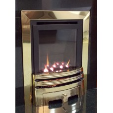 ECO4 H.E. (SLIDE) SLIMLINE GAS FIRE BRASS