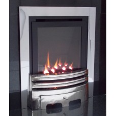 ECO4 H.E. (SLIDE) SLIMLINE GAS FIRE CHROME