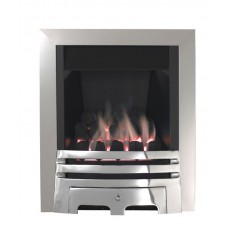 Eco4 GAS FIRE SLIDE Brushed Steel Slimline