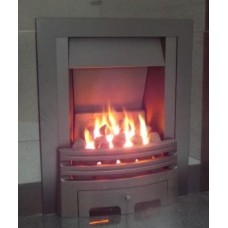 Eco4 GAS FIRE SLIDE Black Slimline