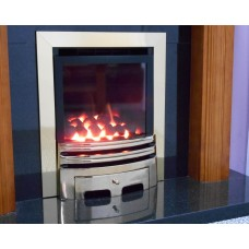 ECO4 H.E. (SLIDE) SLIMLINE GAS FIRE Brushed Steel