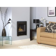 BLACK GLASS CRISTAL PORTRAIT SLIDE CONTROL GAS FIRE