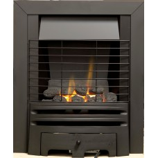 ECO2 FULL DEPTH GAS FIRE 4kw Black Safety Grille
