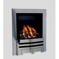 Eco4 GAS FIRE SLIDE Silver Slimline Polaris