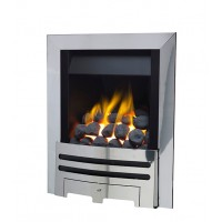 Eco4 GAS FIRE SLIDE Chrome Slimline Polaris