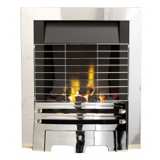 ECO2 FULL DEPTH GAS FIRE 4kw Chrome Safety Grille