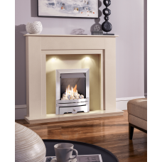 MARBLE CREAM GAS FIRE MELBORNE