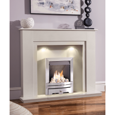 MARBLE WHITE GAS FIRE MELBORNE