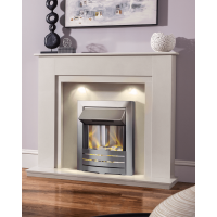 MARBLE WHITE ELECTRIC FIRE MELBORNE
