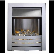 Electric Fire - The Helios, brushed steel