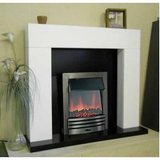 SHELLY ELECTRIC FIRE WHITE FIREPLACE SUITE