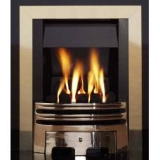 ECO4 BRASS SLIMLINE GAS FIRE
