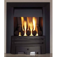 BLACK GAS FIRE SLIMLINE MULTI-FLUE ECO4