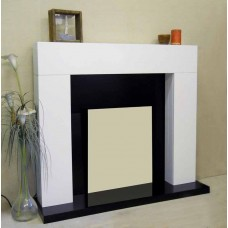 WHITE SHELLY FIREPLACE SURROUND for ELECTRIC FIRES ONLY
