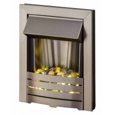 ELECTRIC FIRE PEBBLE LED STAINLESS STEEL