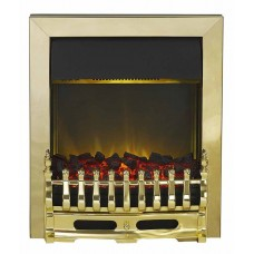 Electric Fire - The Blenheim In Brass Finish