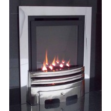 ECO4 H.E. MULTI-FLUE GAS FIRE Brushed Steel
