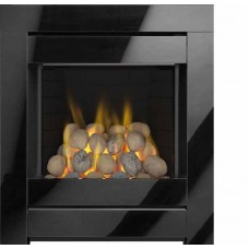 CRISTAL INSET GAS FIRE BLACK GLASS Pebbles