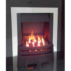 ECO2 FULL DEPTH GAS FIRE 4kw Slide Control chrome