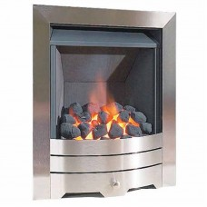 ALBION FULL DEPTH GAS FIRE 4kw Brushed Steel
