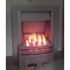 ECO2 FULL DEPTH GAS FIRE 4kw Slide Control Black