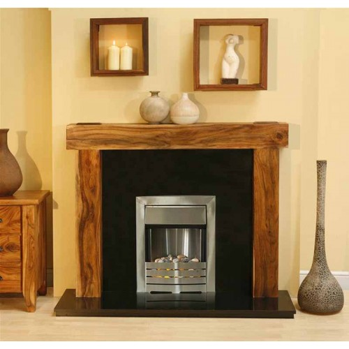 Marvelous New Solid Acacia Arena Fireplace Black Granite Pebble Interior Design Ideas Clesiryabchikinfo