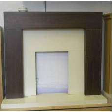 WALNUT ORWELL FIREPLACE CREAM HEARTH