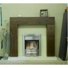 ORWELL WALNUT SURROUND SILVER ELECTRIC FIRE