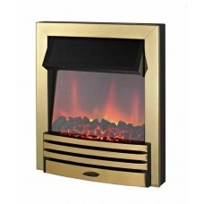 Electric Fire - The Eclipse in Brass Finish