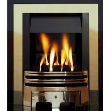ECO2 FULL DEPTH GAS FIRE 4kw Slide Control Brass