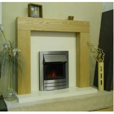 SHELLY OAK VENEER WOOD FIRE SURROUND