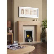 NEW OAK SHELLY MERIDIAN GAS FIRE MARBLE FIREPLACE