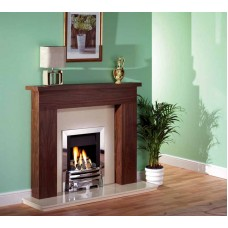 WALNUT SHELLY DARK WOOD FIRE SURROUND