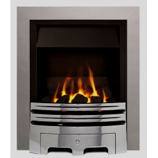 ECO2 FULL DEPTH GAS FIRE 4kw Silver