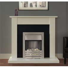 IVORY ELECTRIC FIREPLACE SUITE